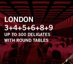 LONDON 3+4+5+6+8+9 – UP TO 300 DELEGATES – WITH ROUND TABLES