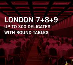 LONDON 7+9 – UP TO 300 DELEGATES – WITH ROUND TABLES