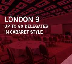 LONDON 9 – UP TO 80 DELEGATES – IN CABARET STYLE