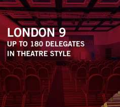 LONDON 9 – UP TO 180 DELEGATES – IN THEATRE STYLE