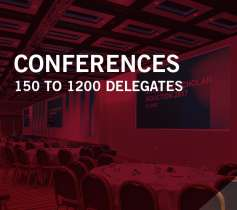 Conference 150 to 1200 delegates
