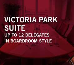VICTORIA PARK SUITE – UP TO 12 DELEGATES – IN BOARDROOM STYLE